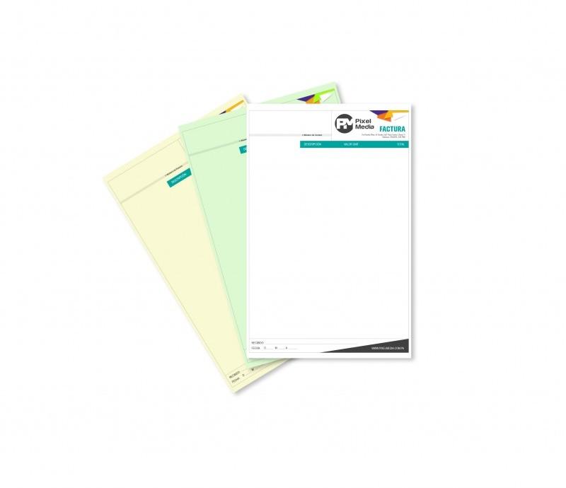 Libretas de Facturas / Recibos Tamaño Media Carta - 2 Copias