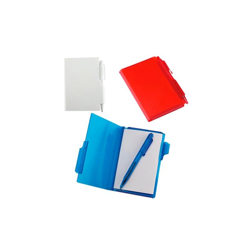 Block de notas con bolígrafo