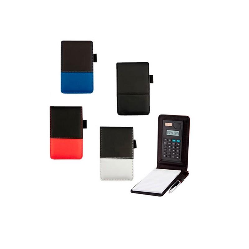 Libreta de bolsillo con calculadora
