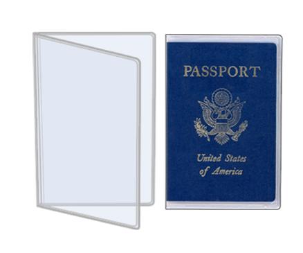 Porta Pasaporte Transparente