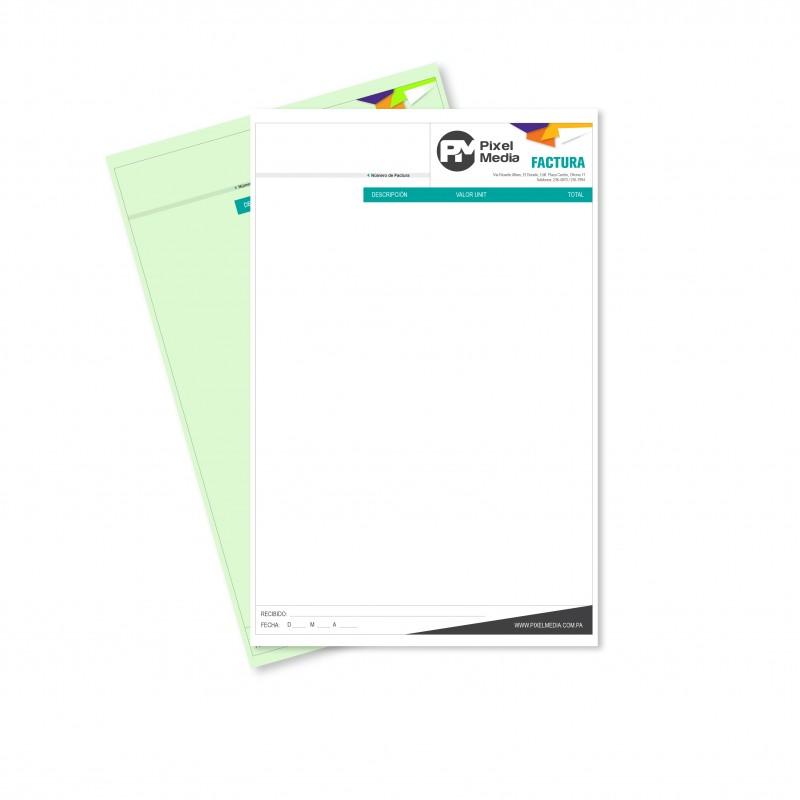 Libretas de Facturas / Recibos Tamaño Carta - 1 Copia