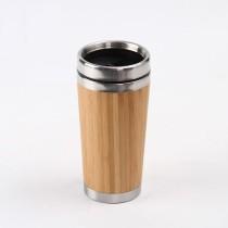 Tumbler De Acero Y Bamboo