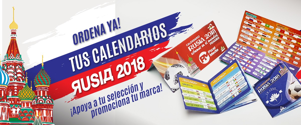 CALENDARIOS PROMOCIONALES RUSIA 2018
