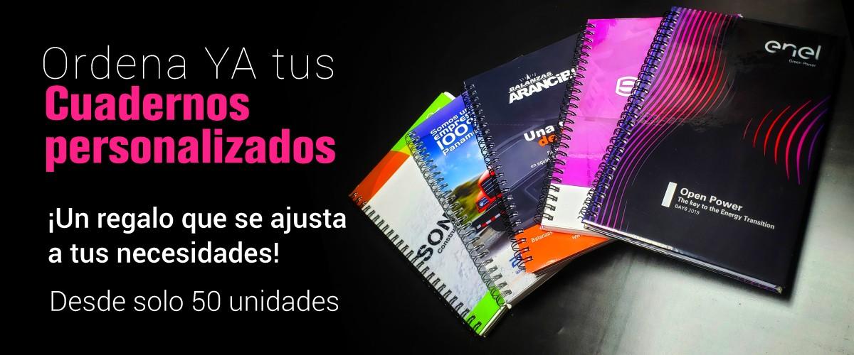 cuadernos promocionales personalizados