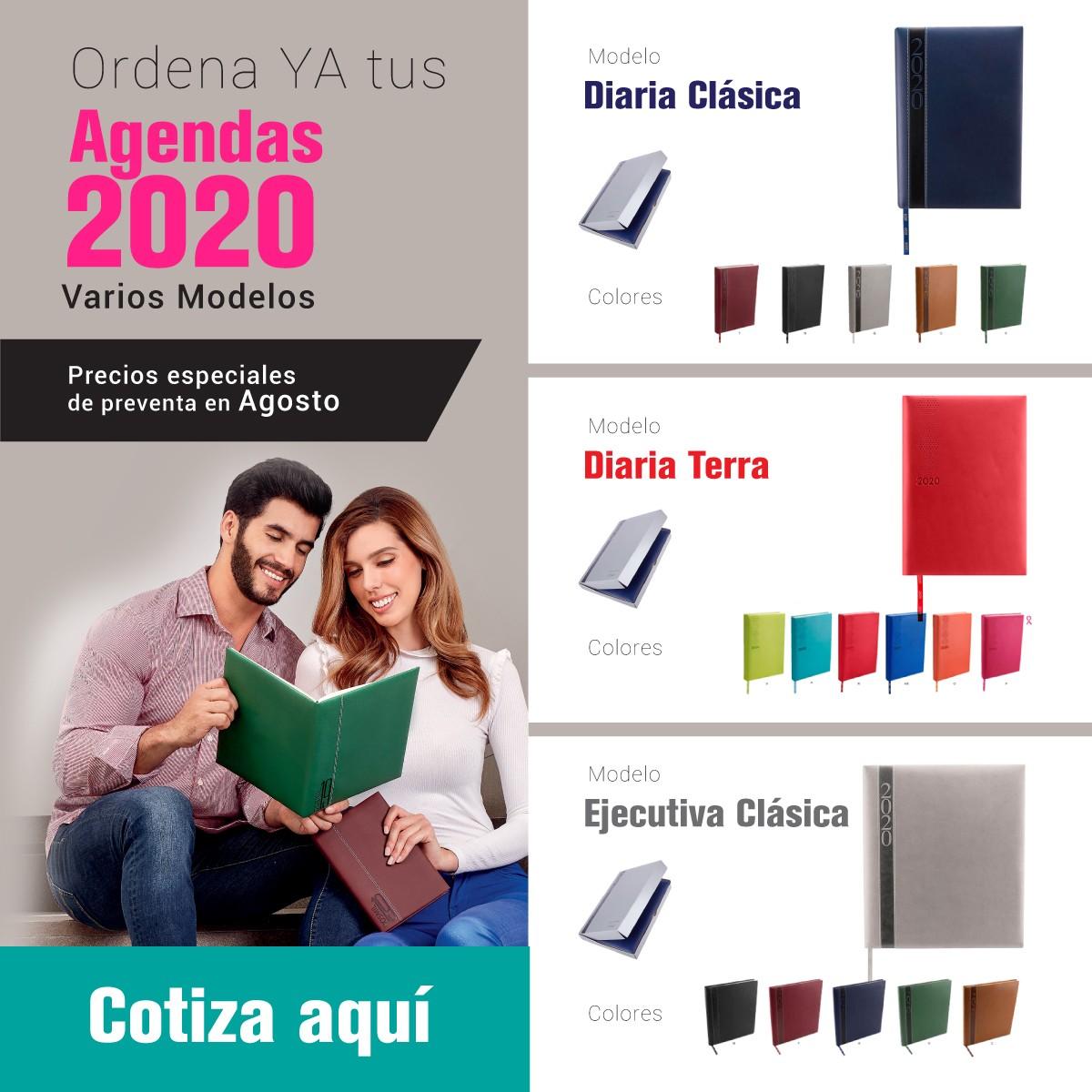agendas promocionales 2020