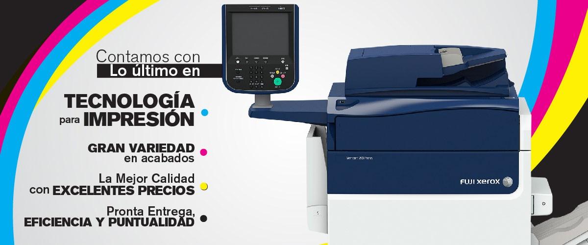 Contamos con lo último en tecnología para impresión