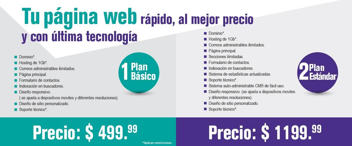 Planes páginas web